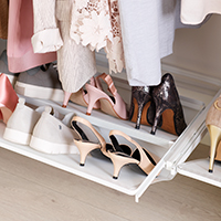 Elfa Mesh Gliding Shoe Shelf - 45cm