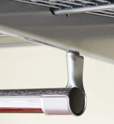 elfa shelving clothes rail holder