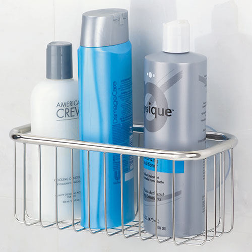 Stainless Steel Rectangular Suction Shower Caddy