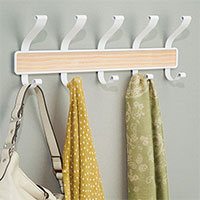 White & Light Wood Coat Hook