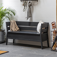 Modern Settle Storage Bench