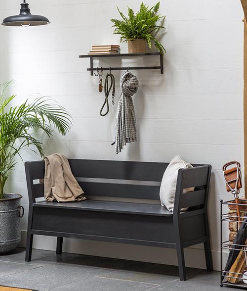 Modern Settle Storage Bench