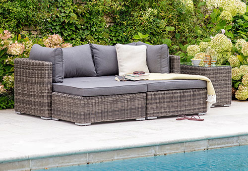 All weather rattan Selborne double lounger garden furniture set