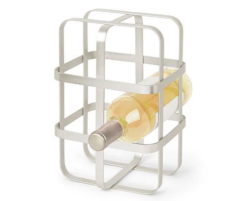 Metal plated stackable wine rack - Pulse - Umbra