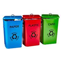 Set of 3 Recycling Bins