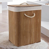Foldable Laundry Basket - Bamboo