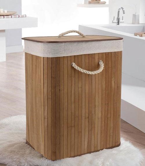 Foldable Laundry Basket - Bamboo
