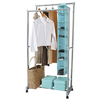 Portable Double Clothes Rail