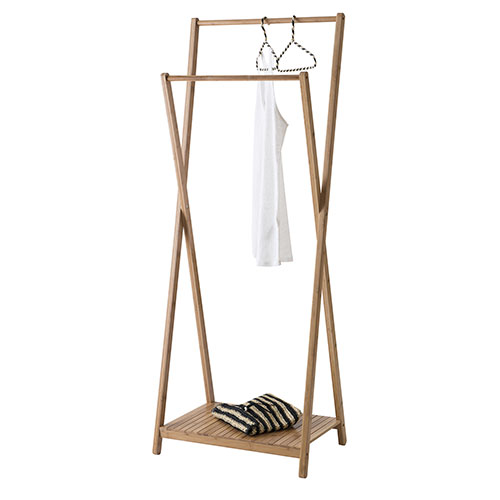 Double Clothes Rail - Bamboo