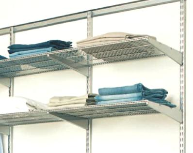 90cm x 40cm Elfa Ventilated Shelf - Platinum