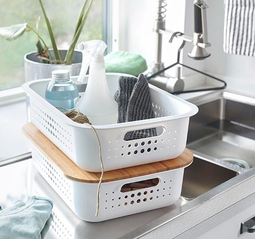 Smartstore Basket with Lid - Shallow