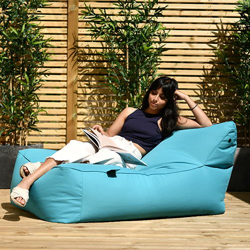 The B-Bed in Aqua makes for a relaxing and comfortable beanbag lounger.