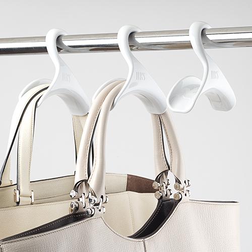Plastic handbag hanger