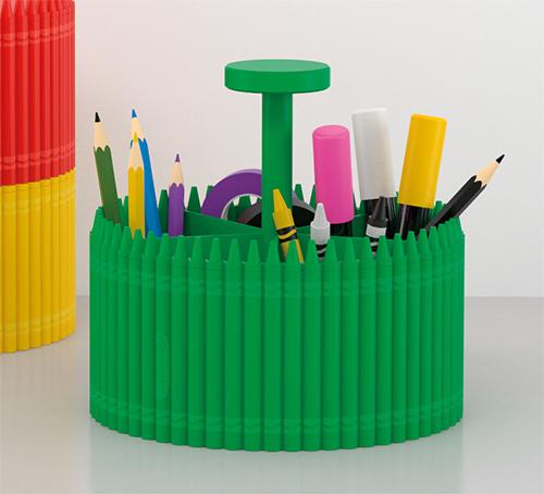 Round Crayola Organiser with Handle