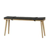 Slimline Oak Bench With Cushion - Beau