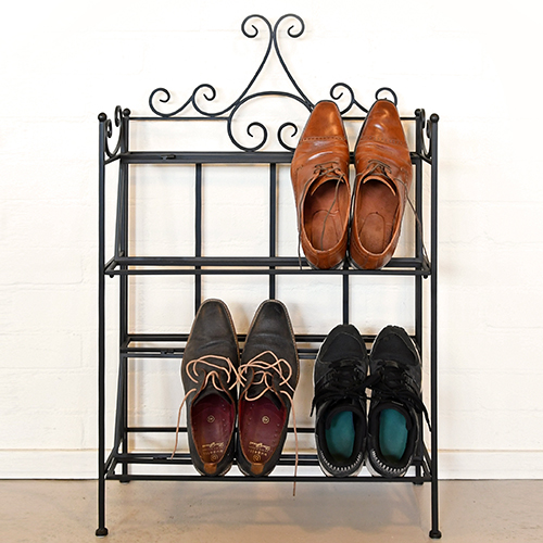 Traditional Steel Foldable Shoe Rack