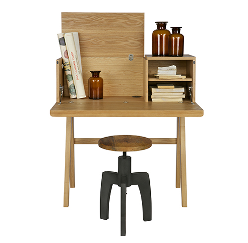 Bureau writing desk crafted from ash wood veneers