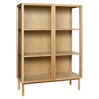 Oak Display Cabinet on Legs