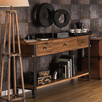 3 Drawer Console Table - Foundry