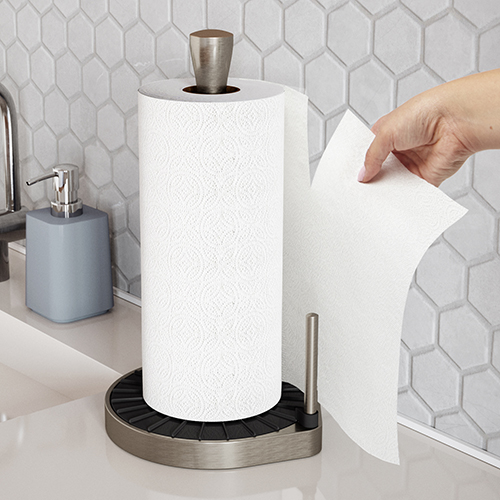 Spin Click & Tear Kitchen Roll Holder
