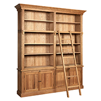 Oak Bookcase with Ladder - Lyon