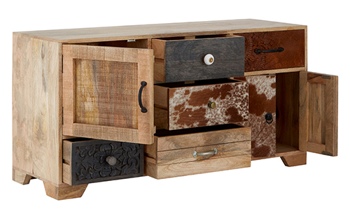 Low sideboard crafted from mango wood