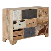 12 Drawer Mango Wood Sideboard - Marwar