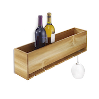 Teak Wood Wine Organiser