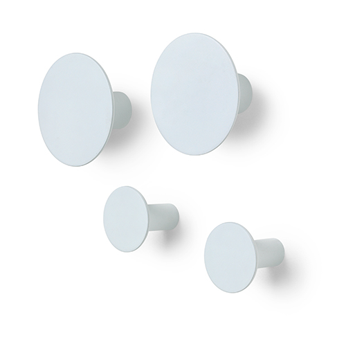 Blomus ponto coat hooks lilly white