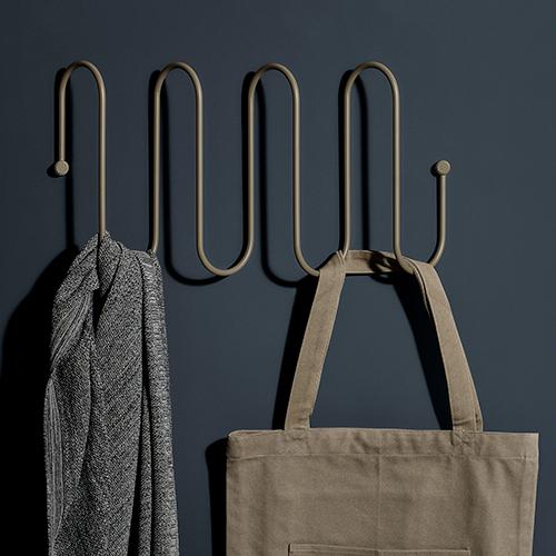 Large Curl Coat Rack - Grey