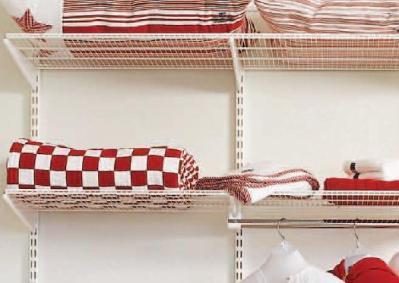 60cm x 30cm Elfa Ventilated Shelf - White