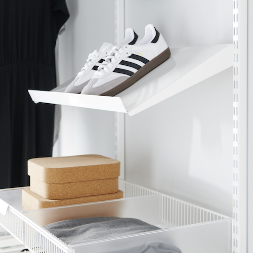 Elfa Angled Shoe Shelf - 60cm
