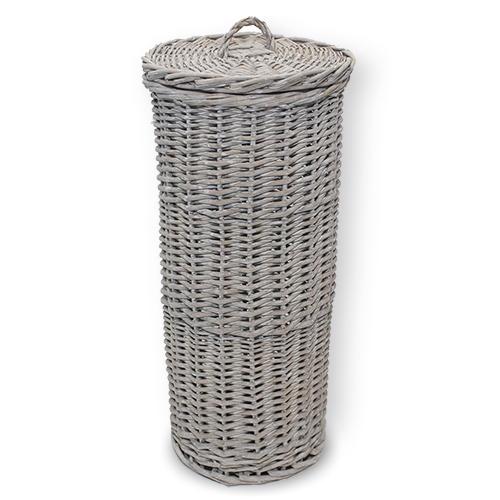 Wicker Loo Roll Store - Grey