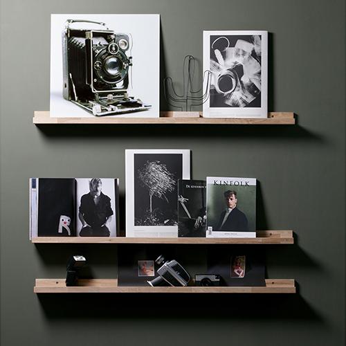 4 x Studio Display Shelves - Solid Oak