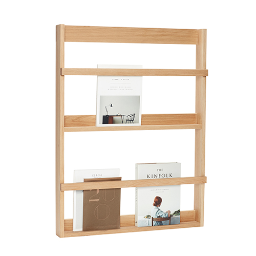 Magazine Display Shelf - Oak