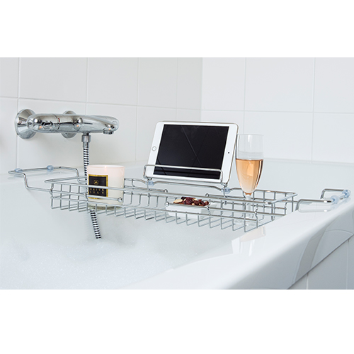 Extendable Bath Caddy - Chrome