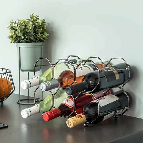 Folding Honeycomb Wine Rack - Grey