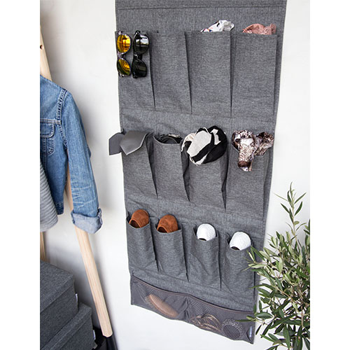 Hanging Pocket Organiser - Grey
