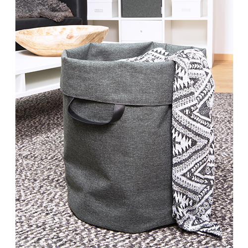 Soft Storage Laundry Bag - Grey