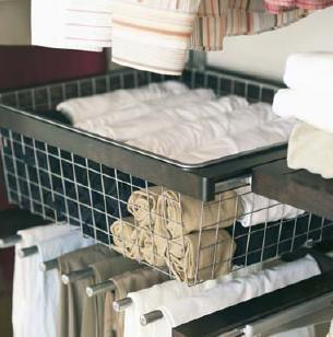 elfa decor wire basket for use with decor drawer frame