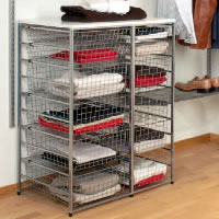 elfa drawer basket towers