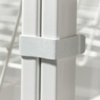 Elfa White Frame Clips - Set of 4