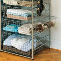 Elfa Side Basket - Platinum 54cm