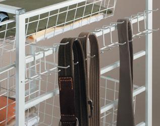 Elfa Tie / Belt Hook - White 54cm