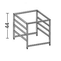 Elfa 4 Runner Drawer Frame - 44cm Deep