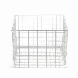 45cm x 44cm White Elfa Basket - Deep