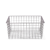 45cm x 44cm Platinum Elfa Basket - Medium