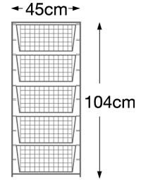 104cm high Elfa Starter Kit - White