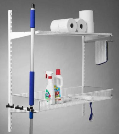 Cleaning Stuff - Elfa Shelf & Broom Kit