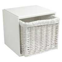 Modular White Wooden Storage Cube